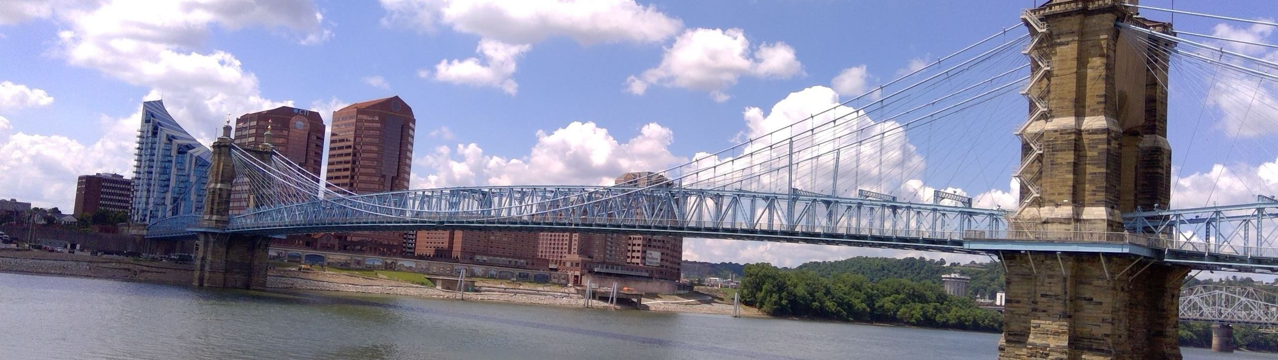 Roebling bridge and City of Covington